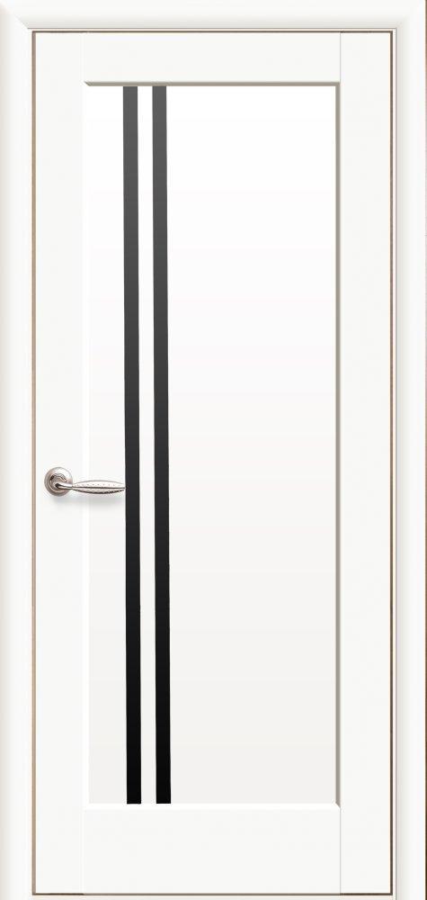 Межкомнатные двери ПВХ П8 с черным стеклом 5