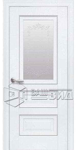Межкомнатные двери ПП Premium ПП60 ПО стекло сатин и рисунок