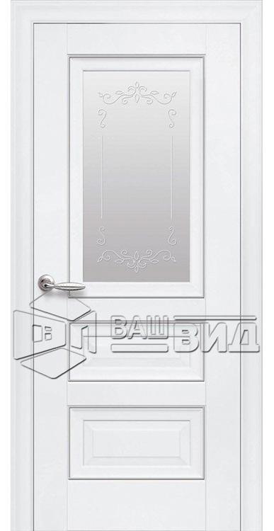 Межкомнатные двери ПП Premium ПП60 ПО со стеклом сатин и рисунком магнолия • МК-171 • Ваш Вид