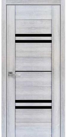 Межкомнатные двери ПВХ П48 ПО с черным стеклом
