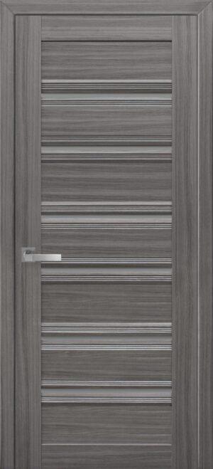 Межкомнатные двери ПВХ П50 ПО с черным стеклом