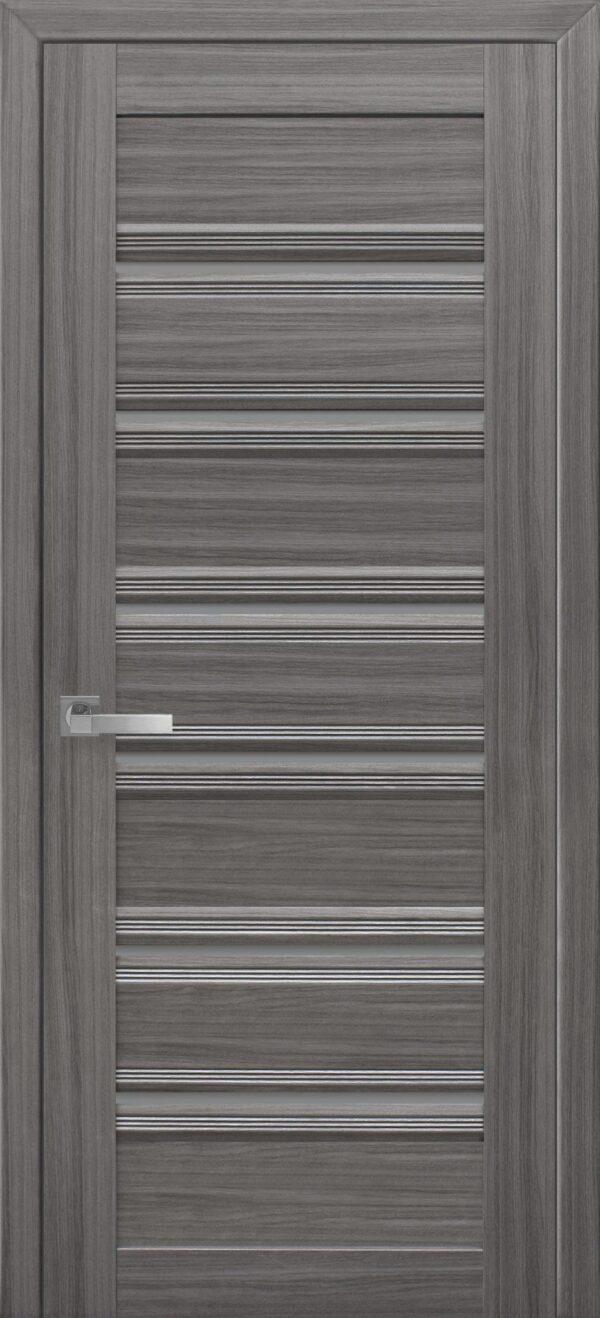 Межкомнатные двери ПВХ П50 ПО с черным стеклом 5