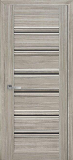 Межкомнатные двери ПВХ П50 ПО с графитовым стеклом