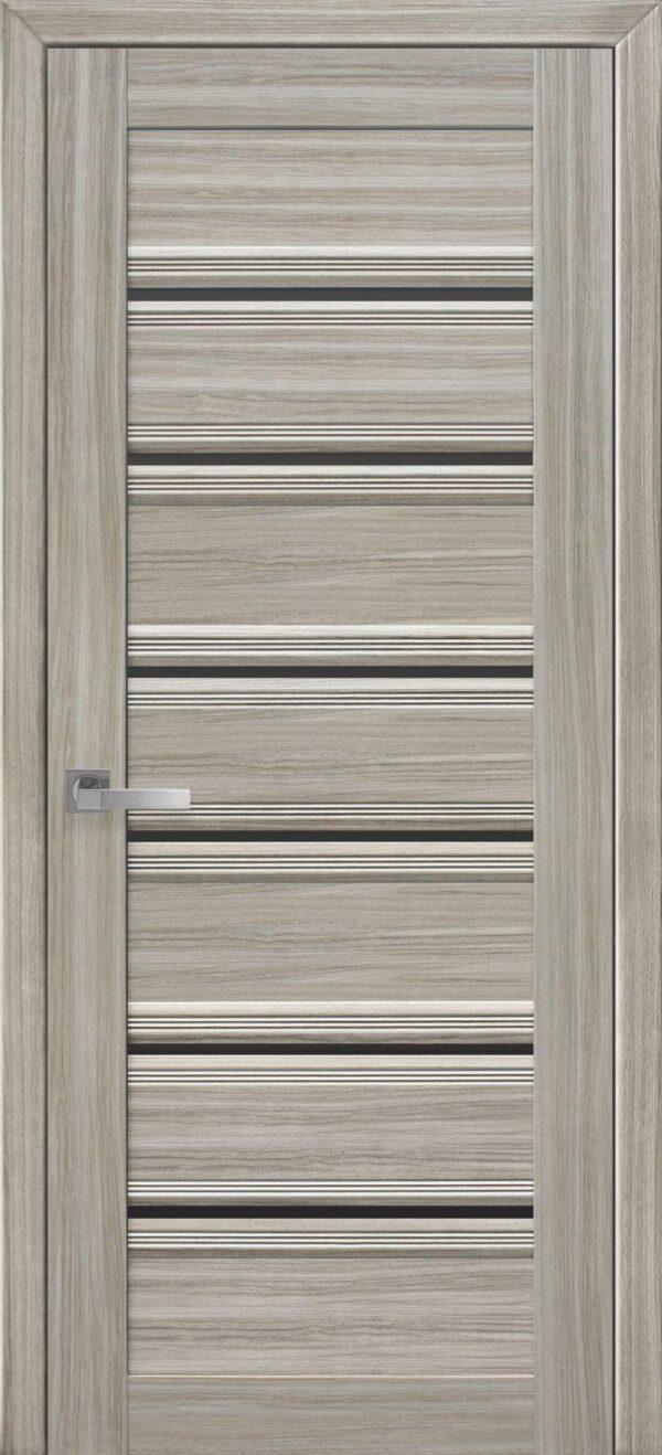 Межкомнатные двери ПВХ П50 ПО с графитовым стеклом 5