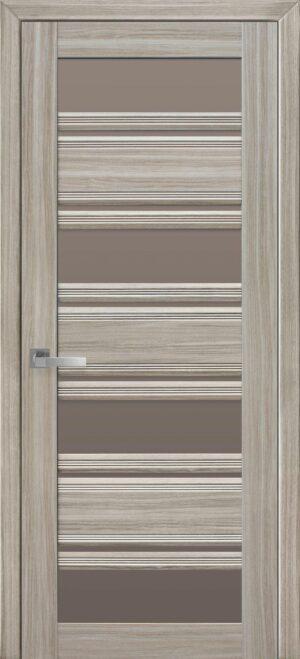 Межкомнатные двери ПВХ П51 ПО с бронзовым стеклом