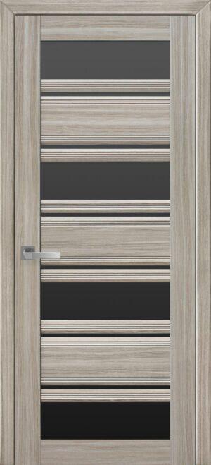 Межкомнатные двери ПВХ П51 ПО с черным стеклом