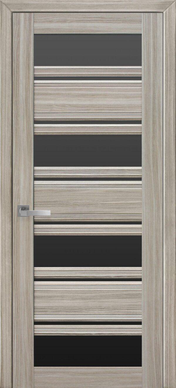 Межкомнатные двери ПВХ П51 ПО с черным стеклом 5