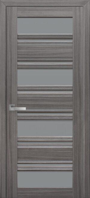 Межкомнатные двери ПВХ П51 ПО с графитовым стеклом