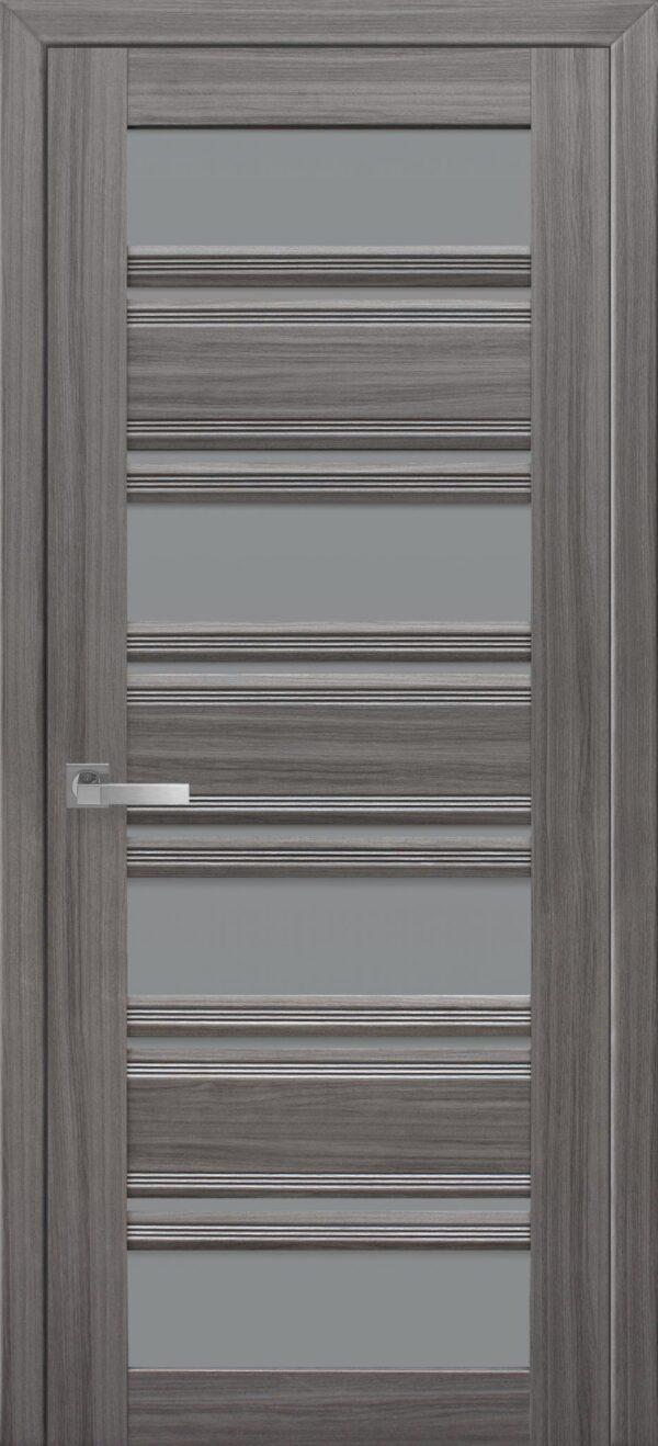 Межкомнатные двери ПВХ П51 ПО с графитовым стеклом 5