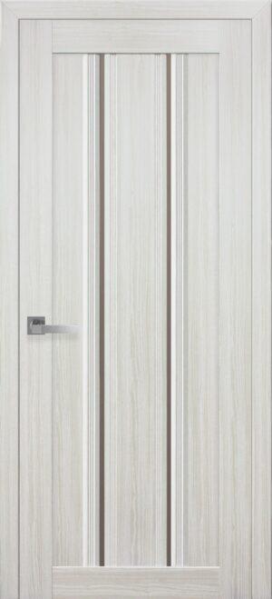Межкомнатные двери ПВХ П52 ПО с бронзовым стеклом