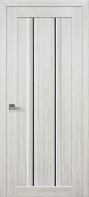 Межкомнатные двери ПВХ П52 ПО с черным стеклом
