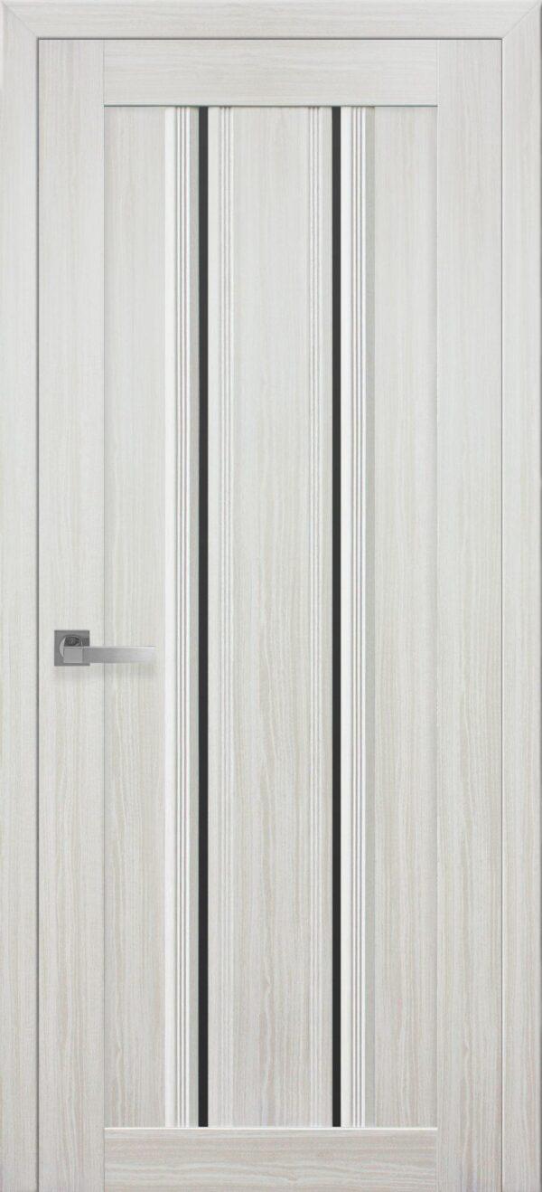 Межкомнатные двери ПВХ П52 ПО с черным стеклом 5