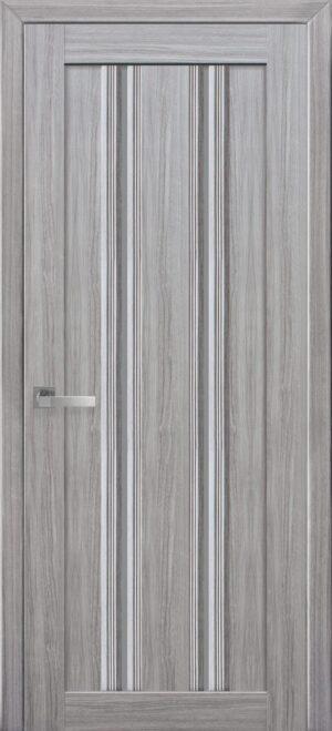 Межкомнатные двери ПВХ П52 ПО с графитовым стеклом