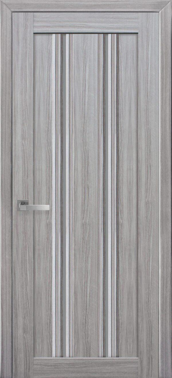 Межкомнатные двери ПВХ П52 ПО с графитовым стеклом 5