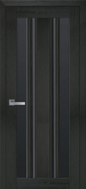 Межкомнатные двери ПВХ П53 ПО с черным стеклом