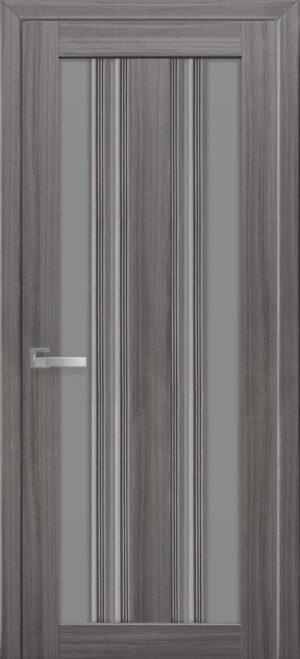 Межкомнатные двери ПВХ П53 ПО с графитовым стеклом