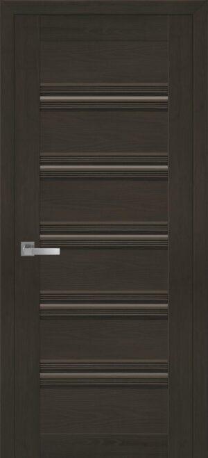 Межкомнатные двери ПВХ П54 ПО с черным стеклом