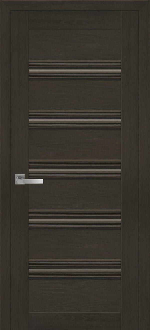 Межкомнатные двери ПВХ П54 ПО с черным стеклом 5