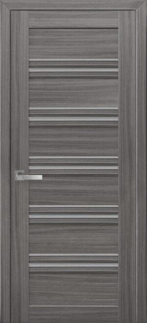 Межкомнатные двери ПВХ П54 ПО с графитовым стеклом