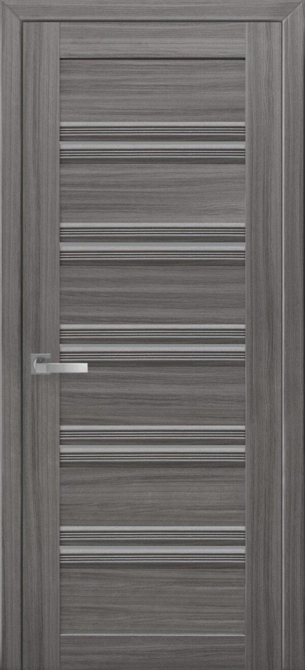 Межкомнатные двери ПВХ П54 ПО с графитовым стеклом 5