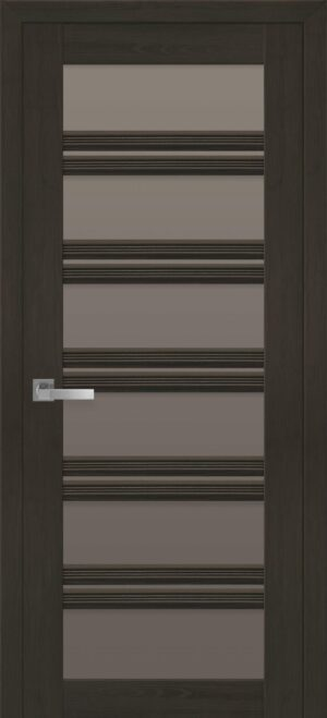 Межкомнатные двери ПВХ П55 ПО с бронзовым стеклом