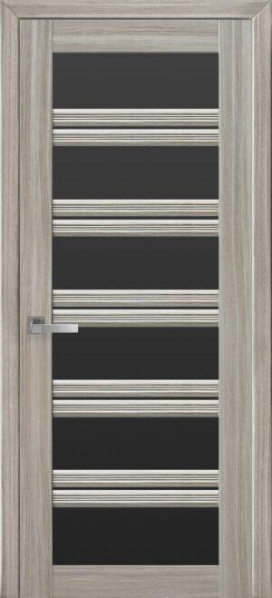 Межкомнатные двери ПВХ П55 ПО с черным стеклом