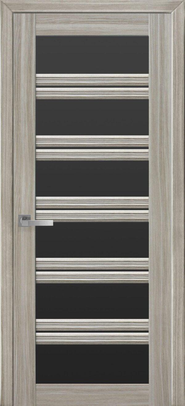Межкомнатные двери ПВХ П55 ПО с черным стеклом 5