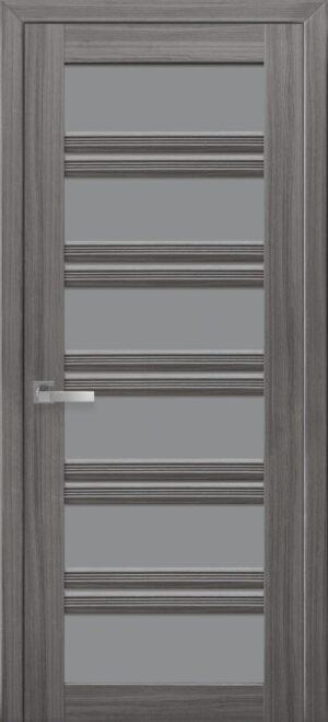 Межкомнатные двери ПВХ П55 ПО с графитовым стеклом