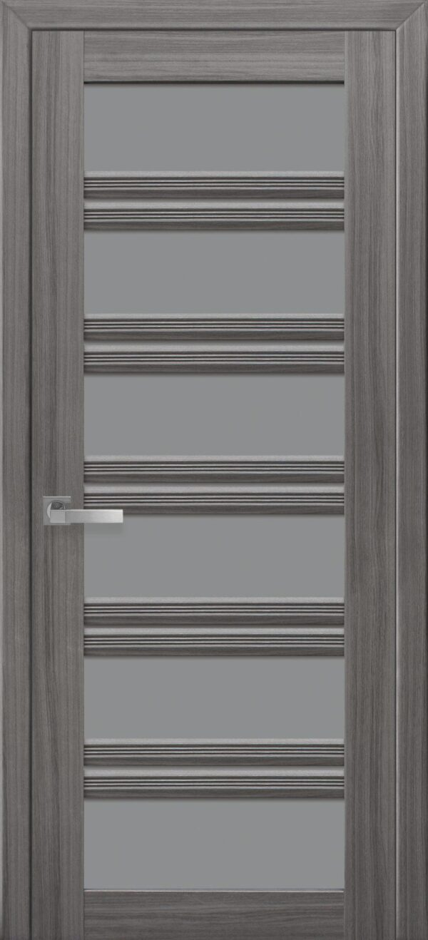 Межкомнатные двери ПВХ П55 ПО с графитовым стеклом 5