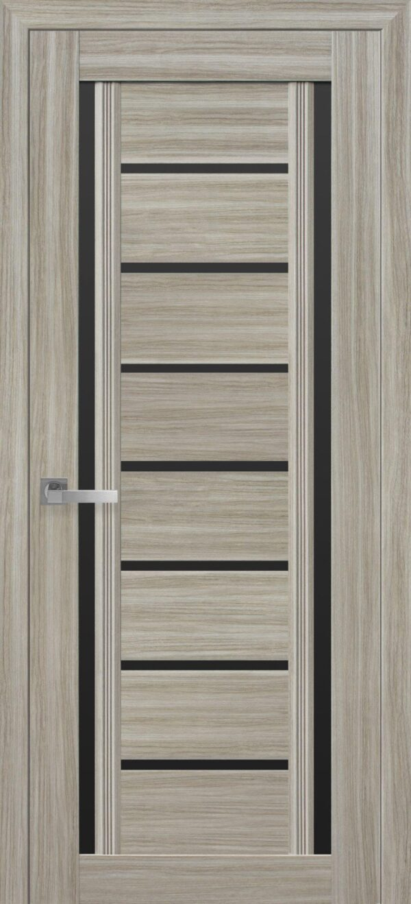 Межкомнатные двери ПВХ П56 ПО с черным стеклом 5