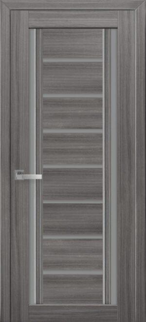 Межкомнатные двери ПВХ П56 ПО с графитовым стеклом