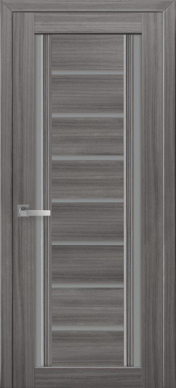 Межкомнатные двери ПВХ П56 ПО с графитовым стеклом 5