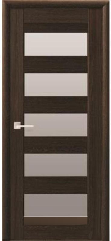 Межкомнатные двери ПВХ П57 ПО со стеклом сатин 5