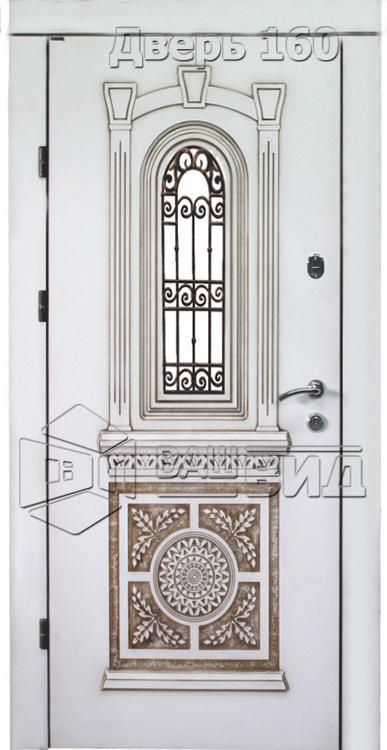 Дверь Рим 4 плюс решётка 38 (входная улица) 5