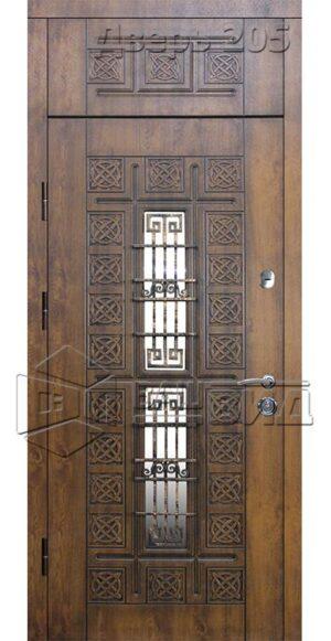 Дверь БП 26 плюс решётка эскиз (входная улица)