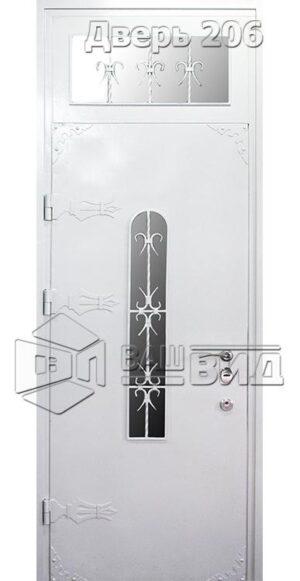Дверь Офис декор 2 решётка 1 плюс решётка эскиз (входная улица)