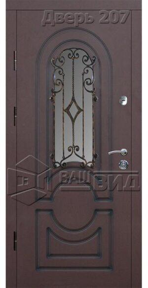 Дверь Б 68 плюс решётка 38 (входная улица)