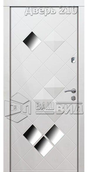 Дверь Ромб 1 плюс зеркало (входная квартира)