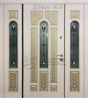 Дверь БП 6 плюс витраж Класик 1 (входная улица)