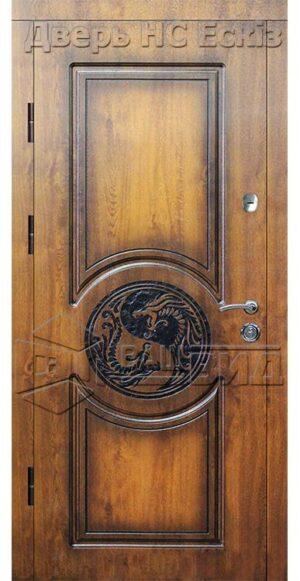 Дверь Фрезеровка Эскиз (входная улица)