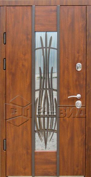 Двери Авеню стеклопакет + ковка (входные улица)