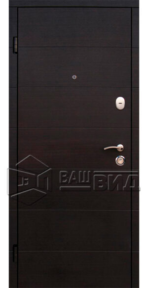 Двери Элегант 2 цвета рамы (входные квартира)