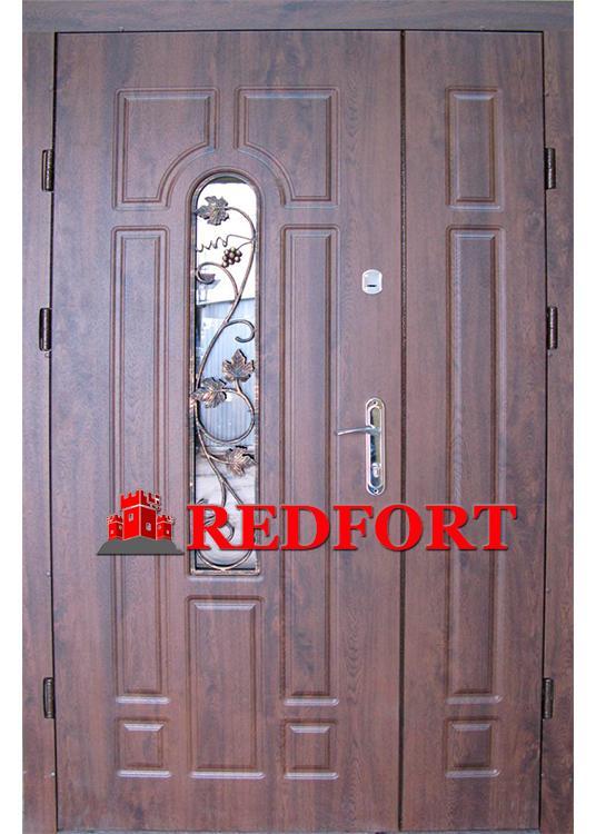 Дверь Арка с притвором и ковкой (входная улица) 5