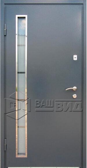 Двери Металл-МДФ стеклопакет (входные улица)