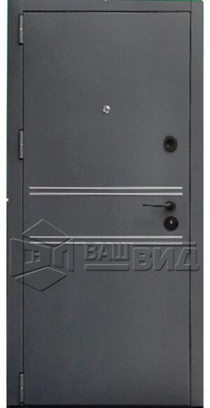 Дверь Элегант ПВХ двухцветная (входная улица)