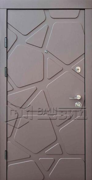 Дверь Делюкс/Гладь двухцветная (входная квартира)